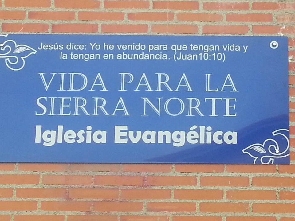 Una iglesia evang lica desde guadalix para la sierra norte for Calle prado panetes 10 guadalix de la sierra