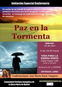 cartel conferencias guadalix paz en la tormenta